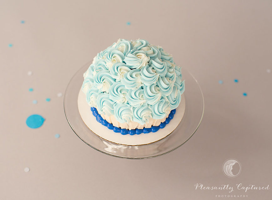 Smash cake for custom cake smash session - Pleasantly Captured Photography - Cake Smash Photography Jacksonville NC