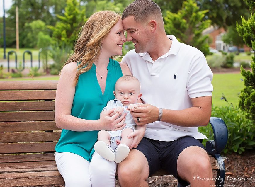 Beautiful family of 3 photographer jacksonville nc
